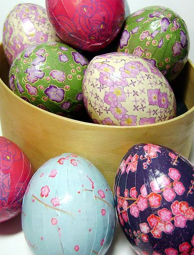Japanese papered eggs