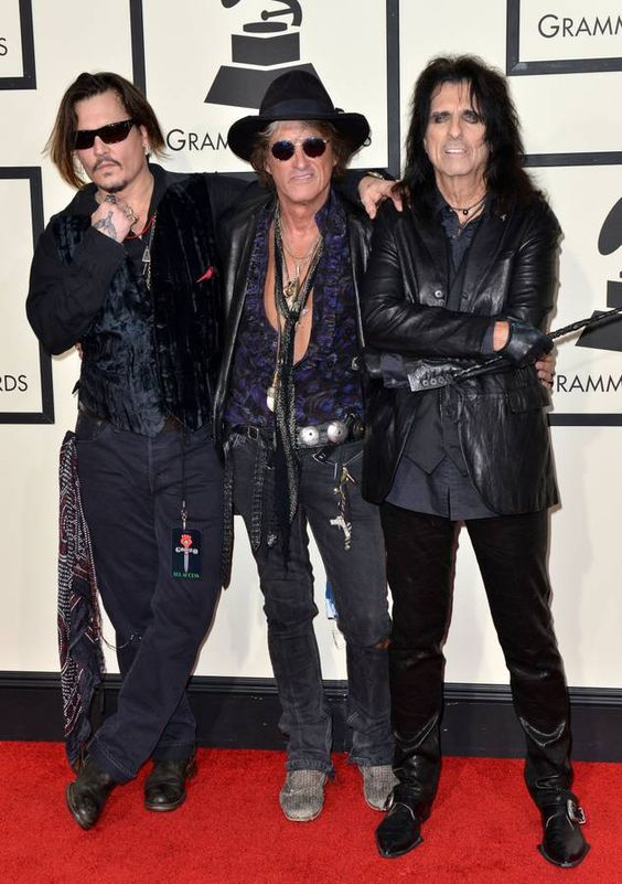 Johnny Depp, Joe Perry et Alice Cooper