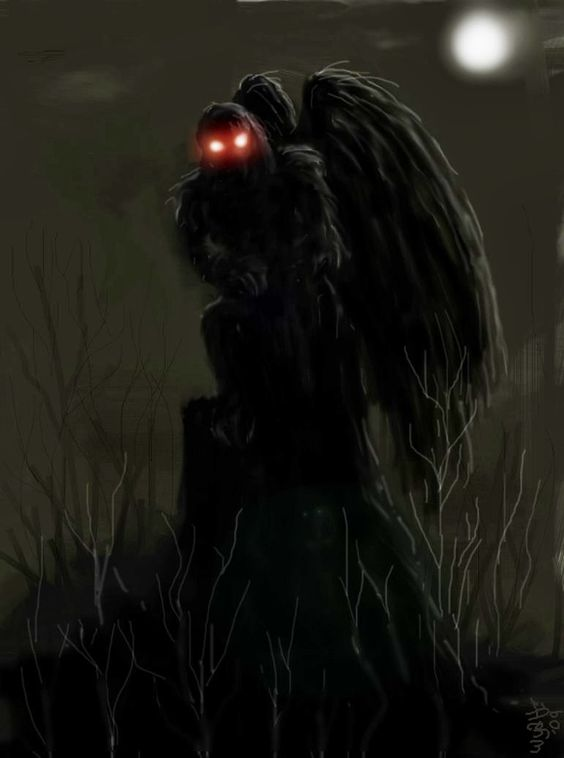 Mothman, Mothman is a legendary creature reportedly seen in the Point Pleasant area of West Virginia from 15 November 1966 to 15 December 1967. Description from pinterest.com. I searched for this on bing.com/images