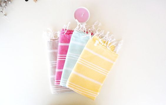 HeadHand Towel PeshkirOrganicNatural Cotton Eco Friendly by loovee, $10.90