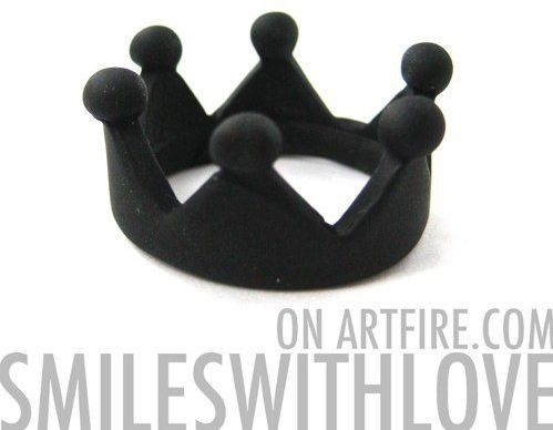 #smileswithlove on Artfire                          #ring                     #Royal #Crown #Princess #Ring #Black #Available #size #ONLY                   Royal Crown Princess Ring in Black Available in US size 6 ONLY                                          http://www.seapai.com/product.aspx?PID=760794