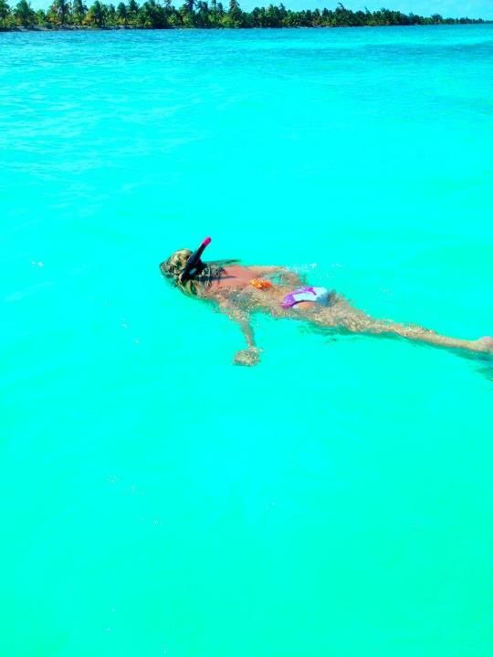 Snorkeling off Caye Caulker, Belize