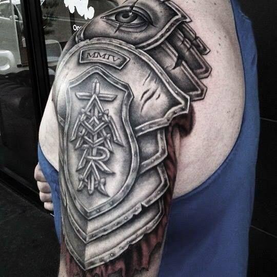 Shoulder Armor Tattoo Viking Tattoos 3d Tattoos Armor Tattoo Black And Gray Tatto En 2020 Tatuaje De Armadura En El Hombro Tatuaje Armadura Tatuaje Para Tapar Cicatriz