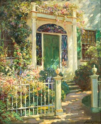 """Portsmouth Doorway"" by Abbott Fuller Graves is one of the paintings on exhibit in the Fruitlands Art Gallery. (Courtesy photo):"