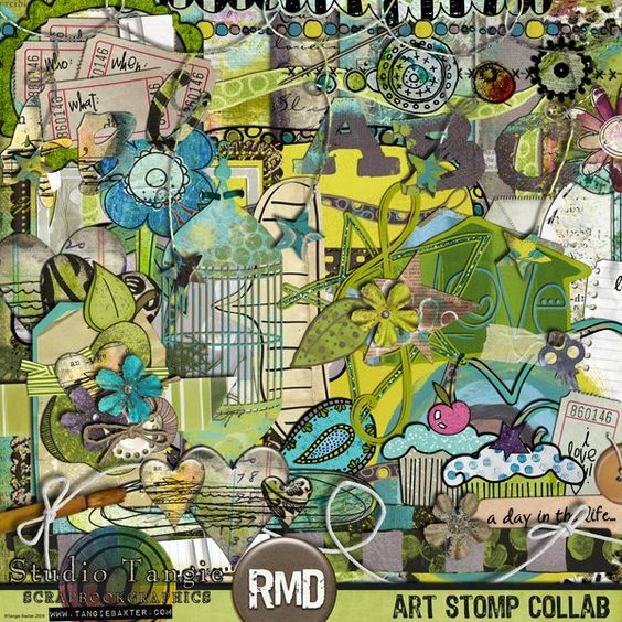 Art Stomp! Collab w/ Roben-Marie Designs