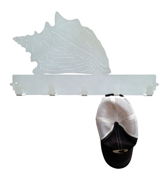 Conch Sea Shell Metal Coat Rack and Hat Rack by MadMetalWorks
