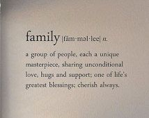 Slap-Art™ Family definition (noun) a group of people... Vinyl Wall Art Decal Sticker lettering saying uplifting inspirational quote verse