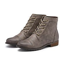PAMELA CAP TOE BOOTIE GREY - These were the best shoes that I've ever owned. Literally the best boots