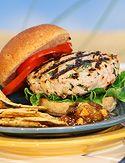 Turkey burger  THIS BURGER IS DELICIOUS!!!!!!