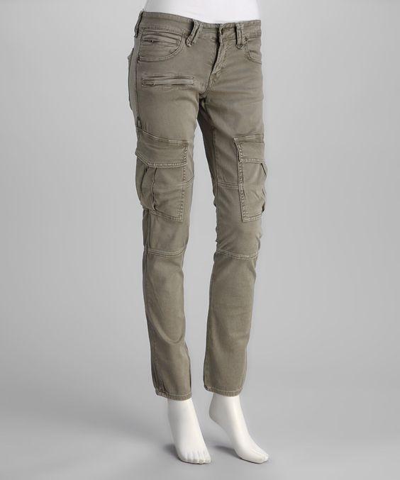 J. Taverniti Taverniti Vintage Army Green Skinny Cargo Pants ...