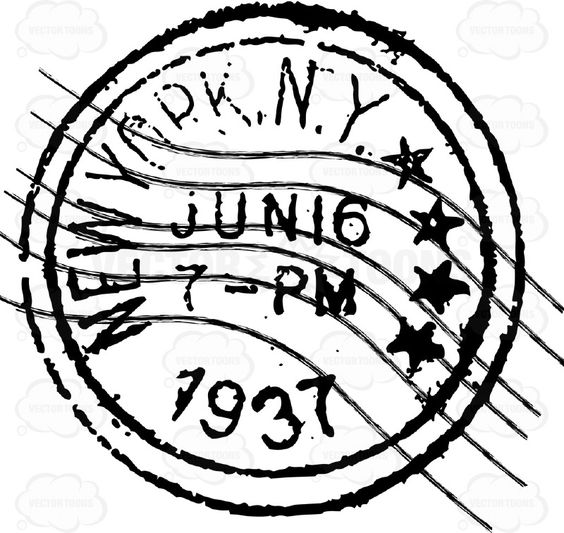 New York, N.Y. Delivered Letter Mail Postage Stamp | Stock Cartoon ...