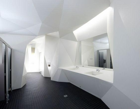 Corian Public Bathroom Commercial Projects Pinterest Toilets Unique