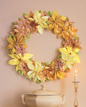Ribbon Poinsettia Wreath