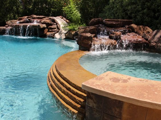 Elegant Outdoor Free Fprm Home Swimming Pools | Natural Free Form