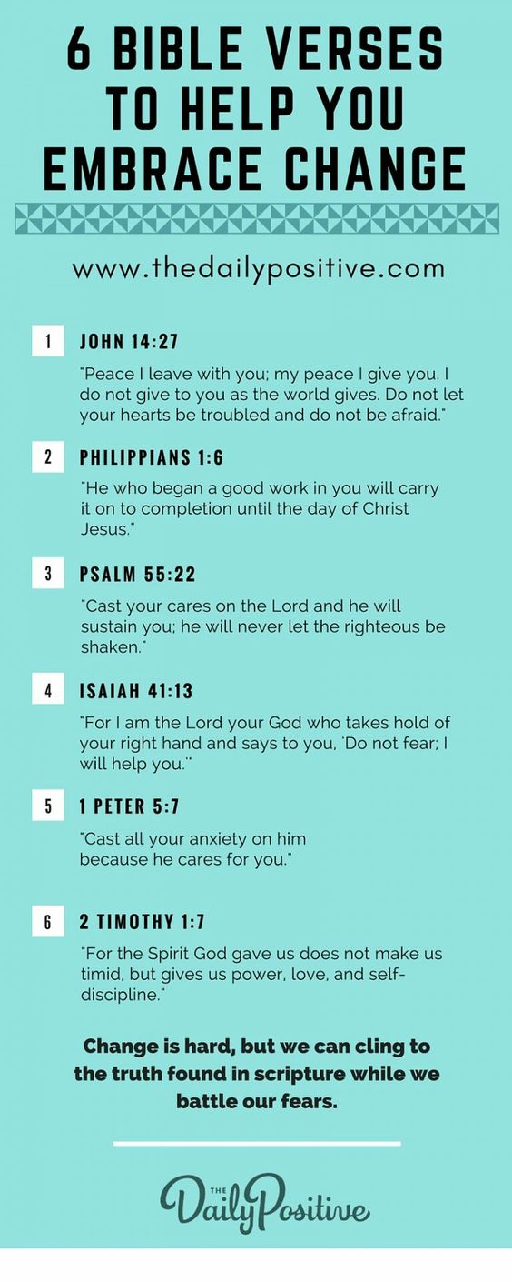 Verses to help embrace change