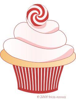 Tricia-Rennea, illustrator: Christmas Cupcake Clip-Art