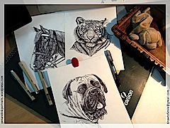 Visit My Pen and Ink Portraits Gallery