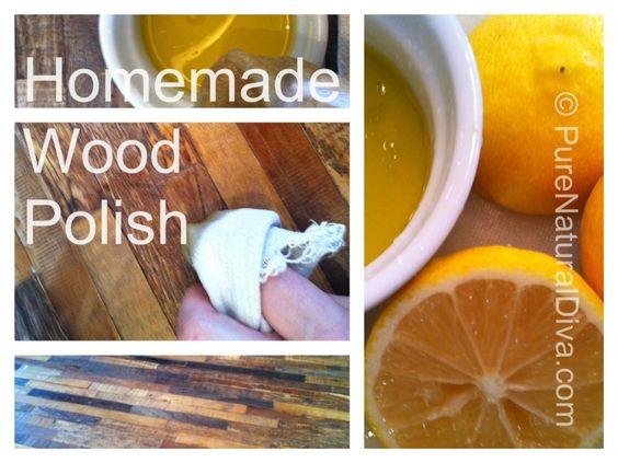 Interesting... I should try. Simple Wood Furniture Polish Recipe #homemade #Furniture #polish