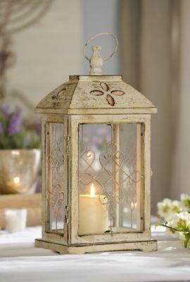 Antique Cream Wood Lantern, 16.75 in. | Kirkland's