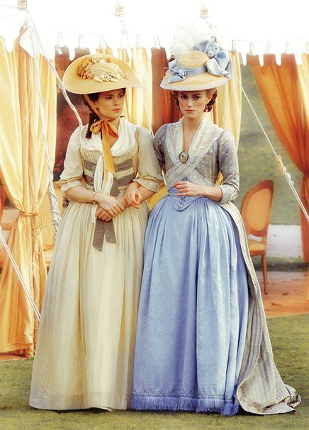 Hayley Atwell and Keira Knightley in 'The Duchess', 2008. Late 18th Century Georgian costumes by Michael O'Connor.: