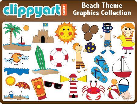 Beach Clip Art Collection