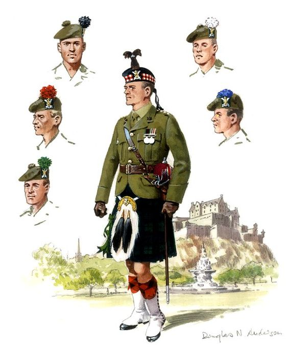 Image result for scottish soldier officer images
