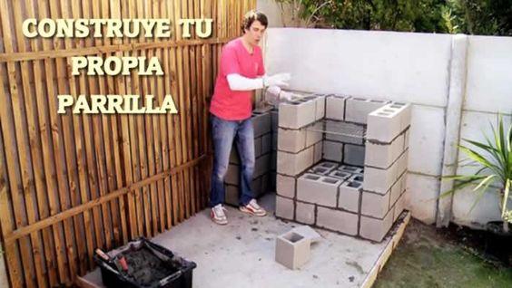 Cómo construir una parrilla con bloques de concreto #videotutoriales