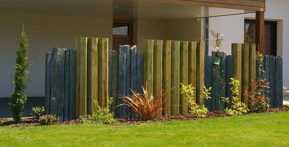 Brise vue bois et schiste couric paysage tregunc jardin pinterest photos - Brise vue jardin bois creteil ...