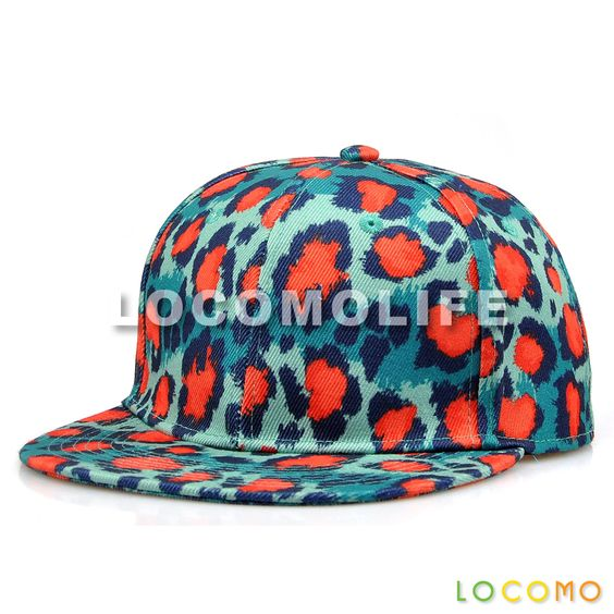 Men Women Colorful Leopard Dotted Pattern Print Cap Blue