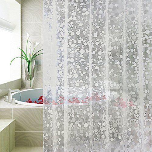 Carttiya Clear Shower Curtain Liner Waterproof No Chemic Https