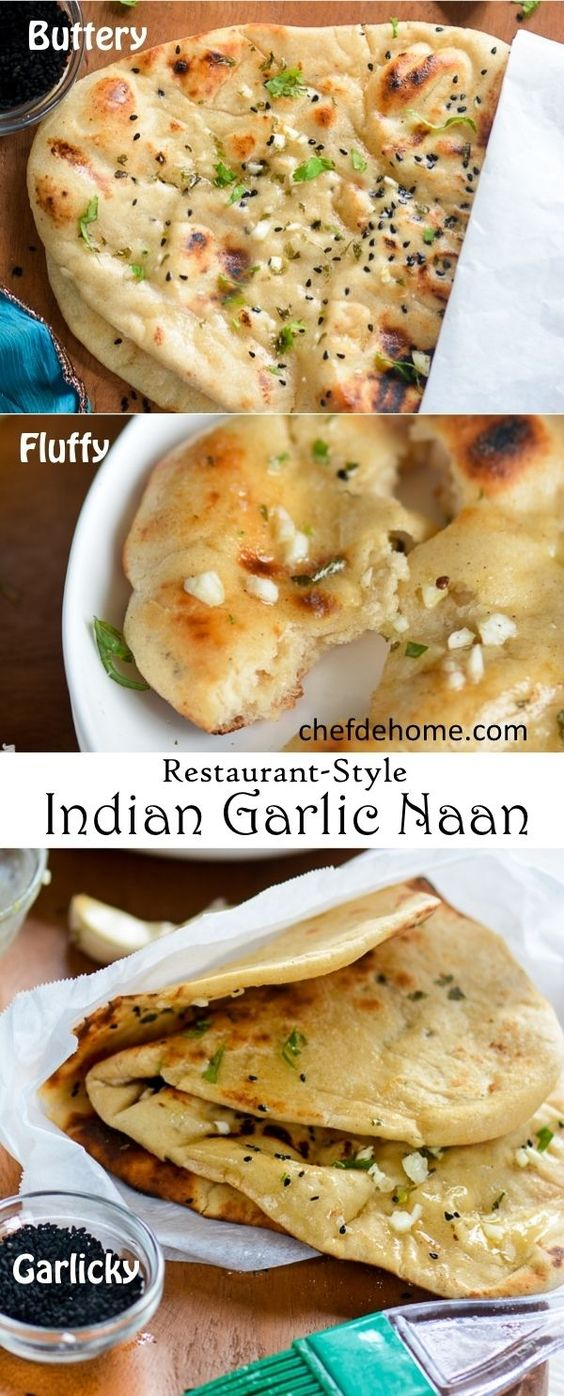 ... -Style Indian Garlic Naan | Recipe | Garlic Naan, Naan and Indian
