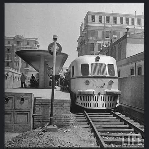 قطار حلوان محطة باب اللوق القاهره عام 1942 Reem Egypt History Cairo Egypt Egypt