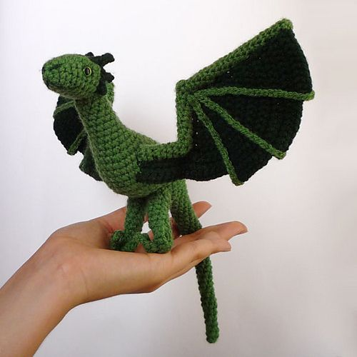 Crochet Patterns Game Of Thrones : Ravelry: Dragon (wyvern/Game of Thrones style) pattern by Kati Galusz ...
