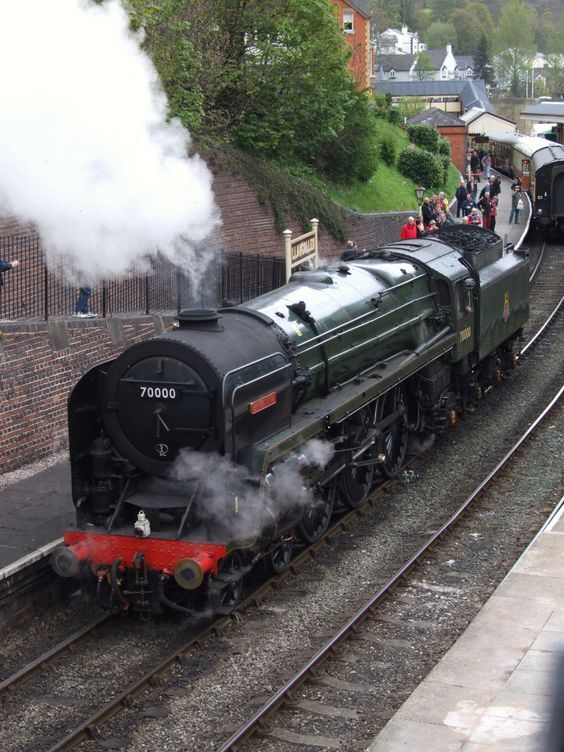 Brittania, No.70000 at Llangollen Station on the Llangollen Railway, Wales..::