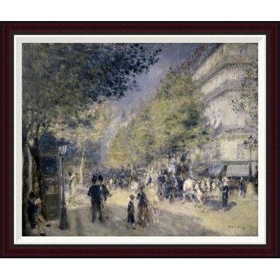 Global Gallery Main Boulevard by Pierre-Auguste Renoir Framed Painting Print Size: