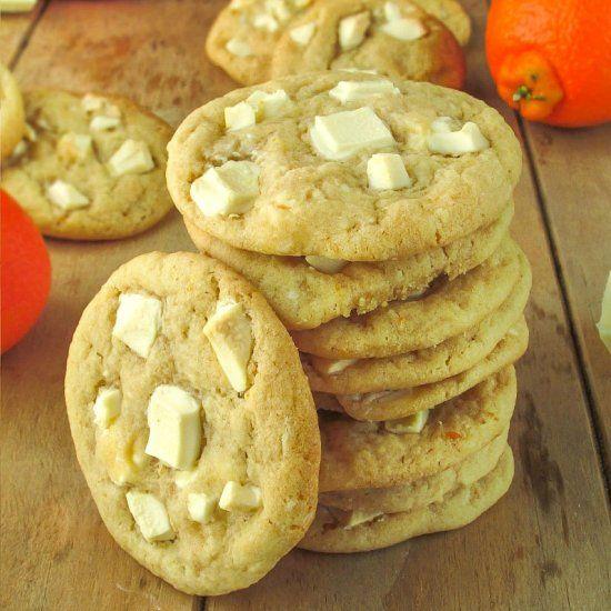 Chewy White Chocolate Chunk Orange Cookies