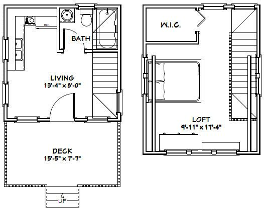14x14 Tiny House 14x14h1b 399 Sq Ft Excellent Floor Plans Tiny Houses Plans With Loft Tiny House Floor Plans House Floor Plans
