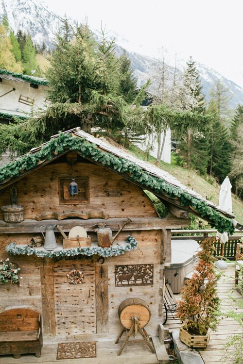 French Alps Rustic Winter Wedding Inspiration Shoot