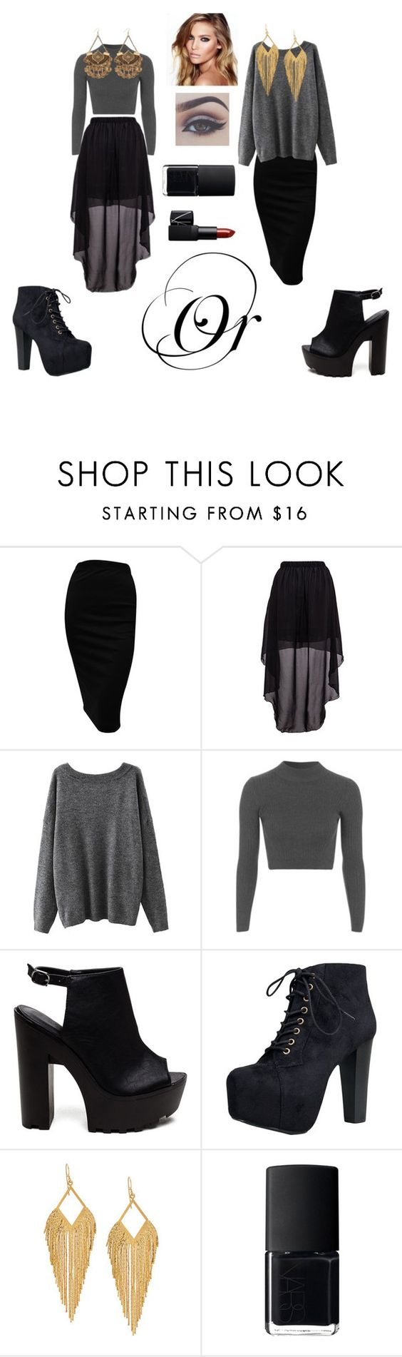 """#124"" by geekyfashion1 ❤ liked on Polyvore featuring mode, Topshop, Speed Limit 98, Panacea, Charlotte Tilbury et NARS Cosmetics"