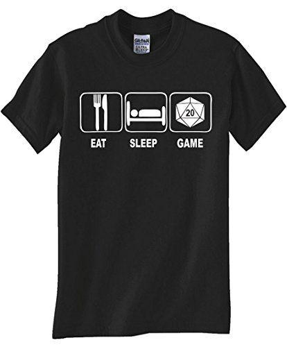 """EAT, SLEEP, DICE GAME"" BLACK T SHIRT (SMALL) STUFF WITH ATTITUDE - GEEK CHIC http://www.amazon.com/dp/B00KXCXTXK/ref=cm_sw_r_pi_dp_QWEavb0VQK0H9"