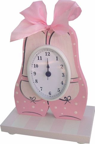 Ballet Shoes Table Clock   Jack and Jill Boutique