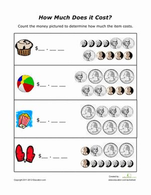 Learning To Count Coins Worksheets #1 | Education/math | Pinterest ...