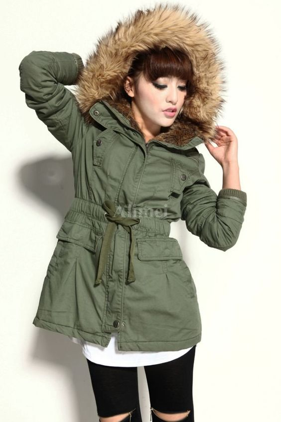 Ladies-Cotton-Padded-Coat-with-hair-cap-winter-jacket-cotton