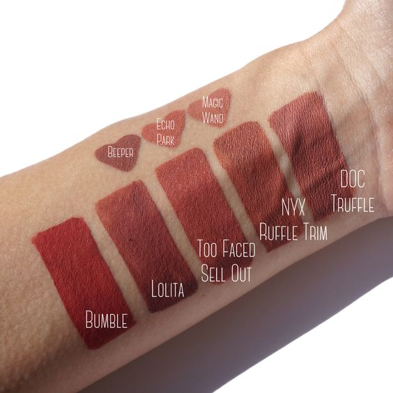 Too Faced Melted Matte Sell Out Swatch and Dupes | Mahkeup ...