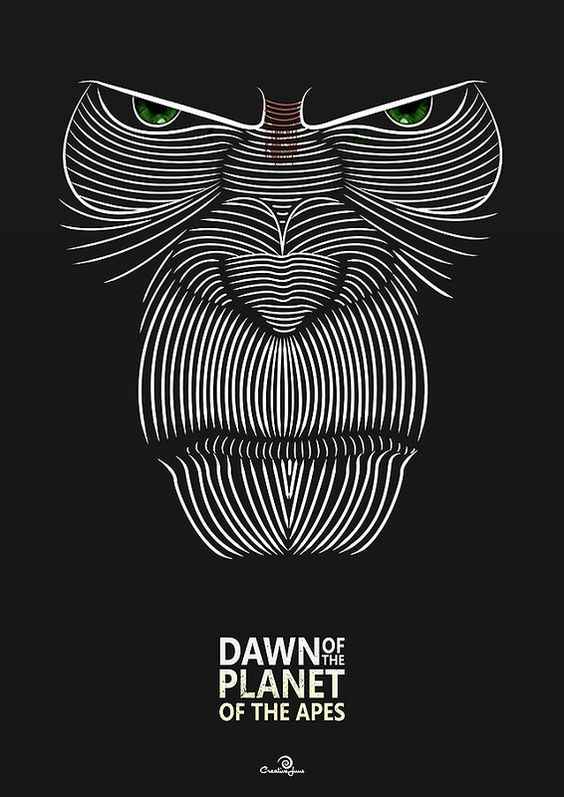Dawn of the Planet of the Apes (2014) ~ Minimal Movie Poster by Jason Stanley