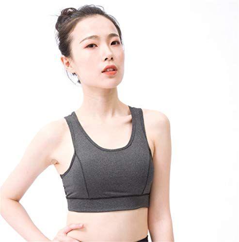 Donne Yoga Running Reggiseno sportivo Crop Top Vest Stretch Bras Shaper Padded