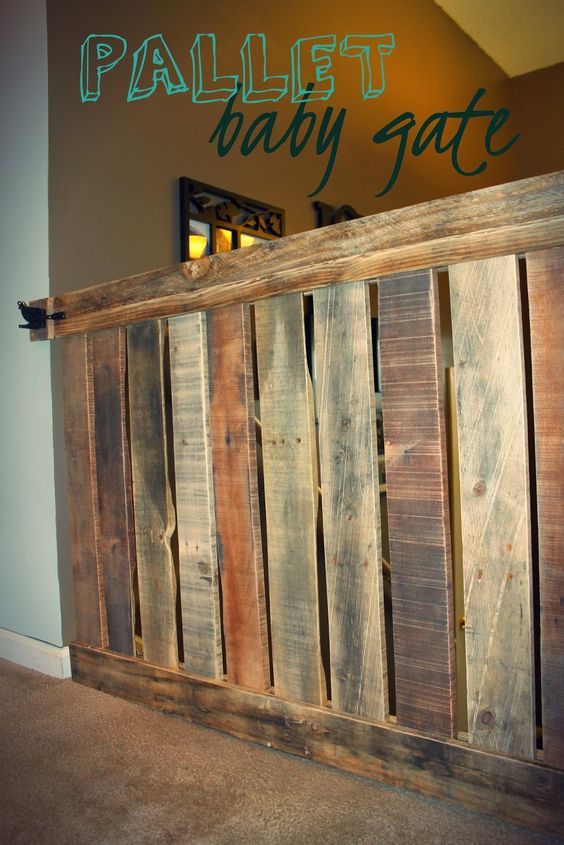 Pallet Baby Gate Hank And Honey Blog Pinterest Pets