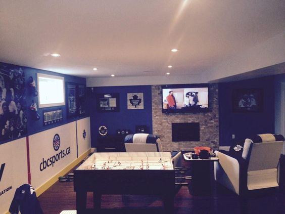 Nhl Man Cave Ideas : Maple leaves caves and hockey on pinterest