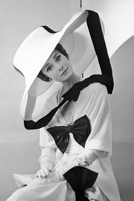 Audrey Hepburn during the filming of My Fair Lady.: