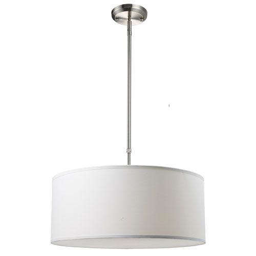 Albion Brushed Nickel Three-Light 20-Inch Pendant